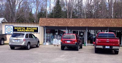 Exterior of North Shore Hardware - Michigan Marine